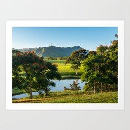 Jurassic Landscape on Hawaiian island of Kauai Art Print