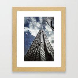 Chicago [Sky cut N°425] Illinois, Usa Framed Art Print