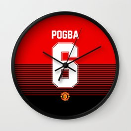 Pogba - Manchester United Home 2018/19 Wall Clock