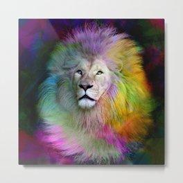 Rainbow Lion Metal Print