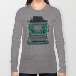 Green Typewriter Long Sleeve T-shirt