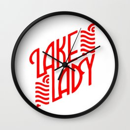 Lake Lady Logo (red) Wall Clock