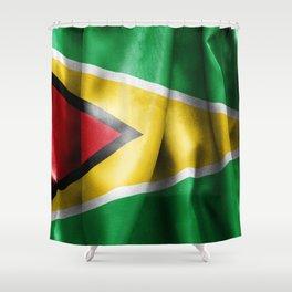 Guyana Flag Shower Curtain
