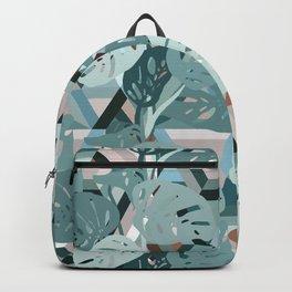 Monstera+Geo Backpack