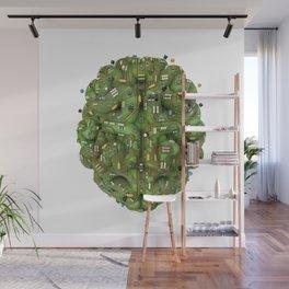 Circuit brain Wall Mural