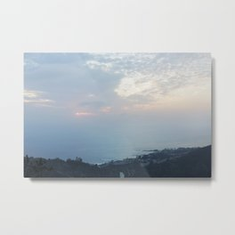 Blue Sunset over the Pacific Metal Print