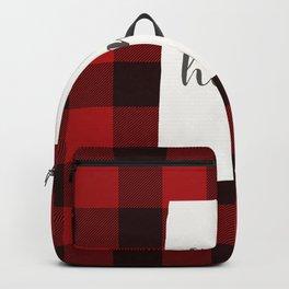 Alabama is Home - Buffalo Check Plaid Backpack