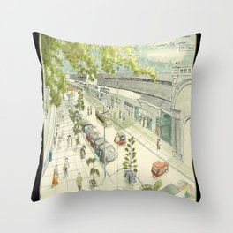Sri Lanka Sketchbook - Colombo Throw Pillow