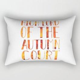 High Lord of the Autumn Court Rectangular Pillow