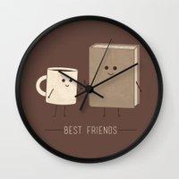 best friends Wall Clocks featuring Best Friends  by Teo Zirinis