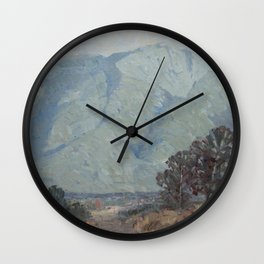Little painting - Mount Kinabalu Wall Clock