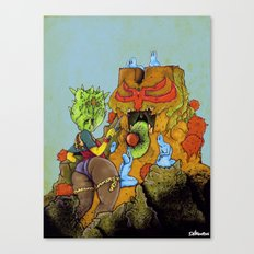 Feeding A Totem With Psychic Orb Canvas Print