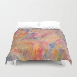 MULTICOLOR TIE AND DYE PATTERN.  Duvet Cover