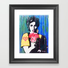 Whos that girl Framed Art Print