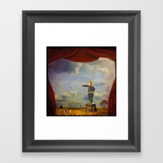 The boy and his mouse Framed Art Print