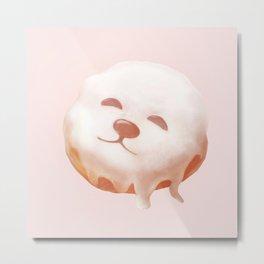 SmileDog Donut Metal Print
