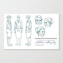 Darshanna Penna Character Design I Canvas Print