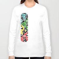 maori Long Sleeve T-shirts featuring Maori Kowhaiwhai Pattern by mailboxdisco