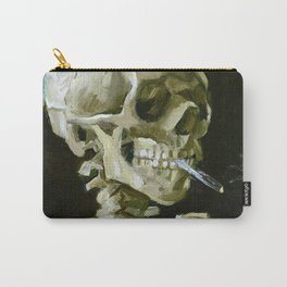 Vincent van Gogh - Head of a skeleton with a burning cigarette - Original white Carry-All Pouch