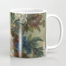 Jan van Huysum - Still life with flowers (1723) Coffee Mug