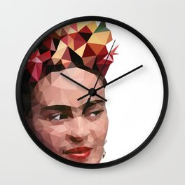 Frida in low poly Wall Clock