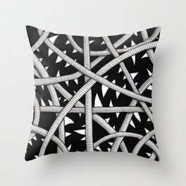 Cords and Spikes Throw Pillow