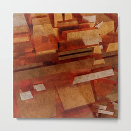 Abstract Copper Conundrum 1 Metal Print