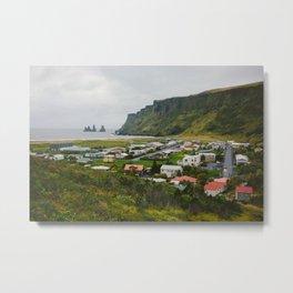 Overlooking Vik, Iceland Metal Print