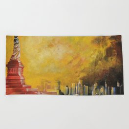 Resta immobile / Remains motionless Beach Towel