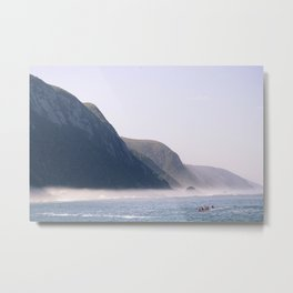 Cliff Meets Ocean at Tsitsikamma, South Africa Metal Print