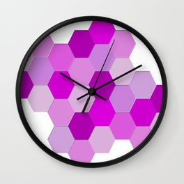 hexagons Wall Clock