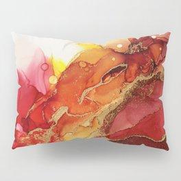 Golden Flame Abstract Ink - Part 1 Pillow Sham