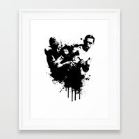 fight Framed Art Prints featuring fight by DIVIDUS