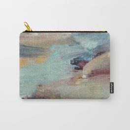 Gentle Beauty [5] - an elegant acrylic piece in deep purple, red, gold, and white Carry-All Pouch