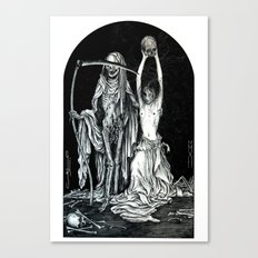 Death and the Maiden II Canvas Print
