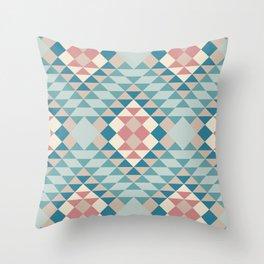 serrado in blue Throw Pillow