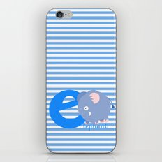 e for elephant iPhone & iPod Skin