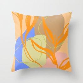 Biatris Leaves Throw Pillow
