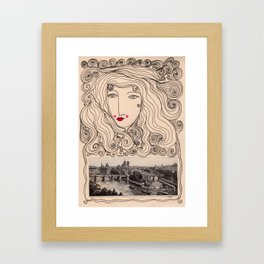 A Gypsy in Paris Framed Art Print