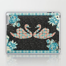 Houndstooth Swans (A Love Story) Laptop & iPad Skin