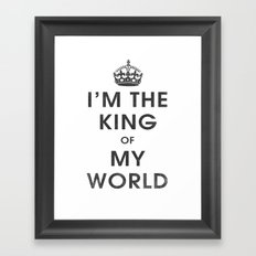 I'm the King of my World Framed Art Print