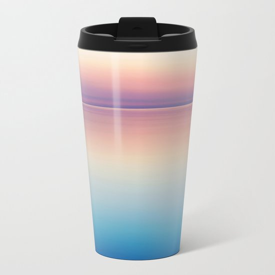 Rainbow Sunset Ocean Metal Travel Mug