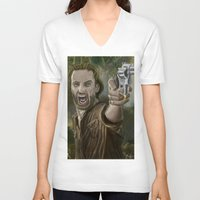 rick grimes V-neck T-shirts featuring Rick Grimes by Paulo Fodra