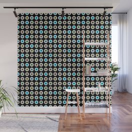 googly eyes pattern Wall Mural