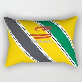 Ayrton Senna Stripes Logo Rectangular Pillow