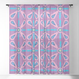Lovely Lavender Pink Sheer Curtain