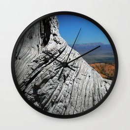 View of Bryce Canyon with Tree Trunk Wall Clock