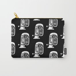 Tuba Pattern Black and White Carry-All Pouch
