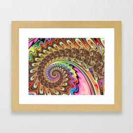 BBQSHOES: Fractal Spirit Spiral Framed Art Print