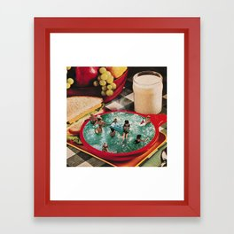Soup and Sandwiches Framed Art Print